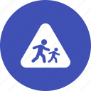 children, crossing, education, road, school, sign, warning