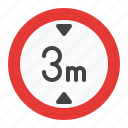 height, limit, max, maximum, sign, traffic icon