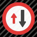arrow, priority, sign, traffic