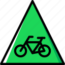 cycling, no, sign, traffic, transport icon
