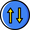give, priority, sign, traffic, transport icon