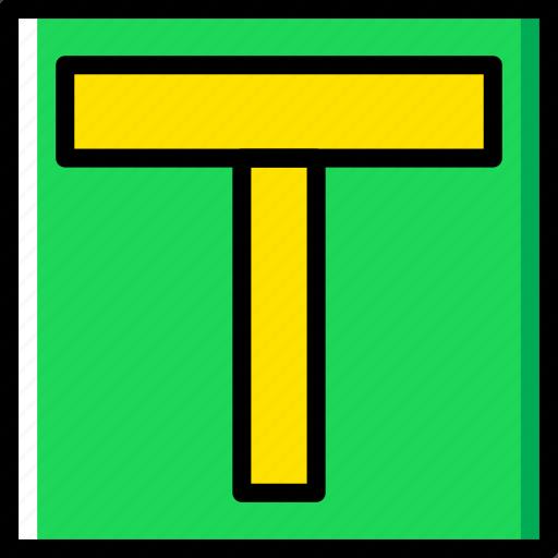 ahead, major, road, sign, traffic, transport icon