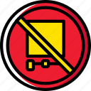 no, sign, traffic, transport, trucks icon