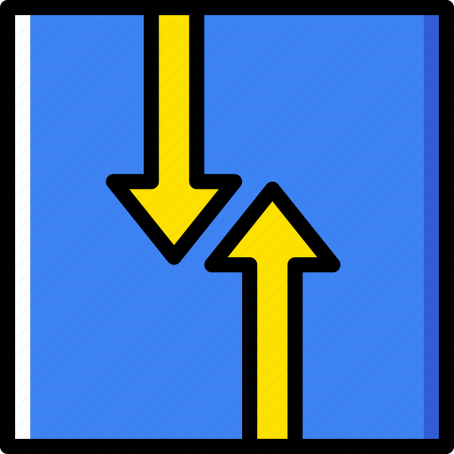 sign, traffic, transport, two, way icon