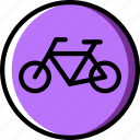cycling, forbidden, sign, traffic, transport icon
