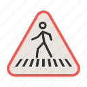 city, cross, crossroads, pedestrian, roads, sign, street icon