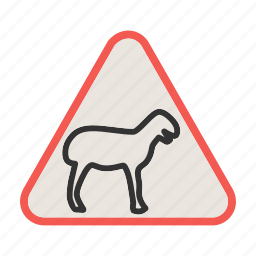 africa, animal, crossing, road, traffic, warning, wild icon