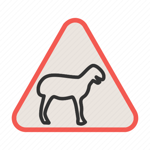 Africa Animal Crossing Road Traffic Warning Wild Icon
