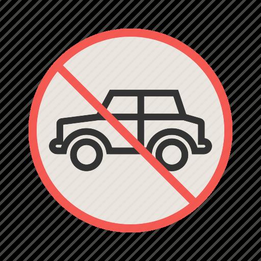 no, park, parking, road, sign, traffic, warning icon