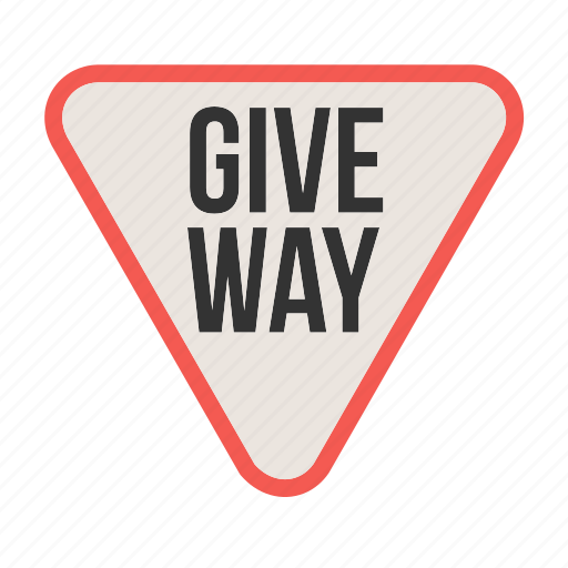 give, highway, red, road, sign, traffic, way icon