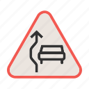 car, overtake, overtaking, road, sign, traffic, transportation icon