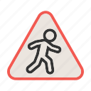 crossing, pedestrian, people, road, sign, street, walk icon
