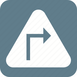 arrow, arrows, construction, fast, right, safety, sign icon