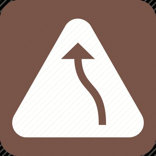 bend, danger, left, road, sign, traffic, transportation icon