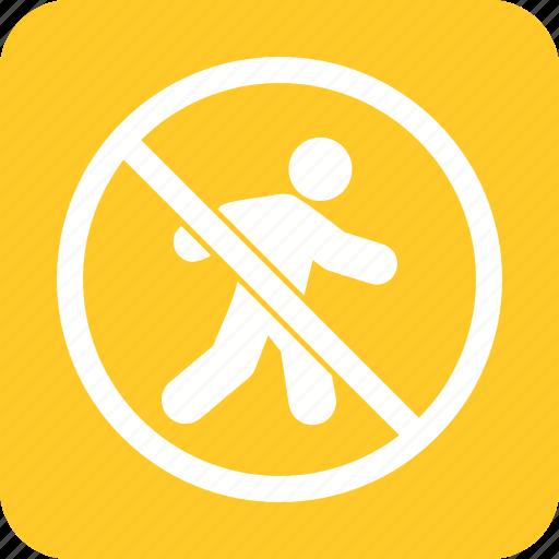 forbidden, no, pedestrian, prohibition, road, safety, sign icon