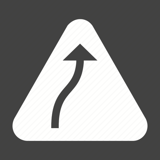 bend, danger, right, road, sign, traffic, transportation icon