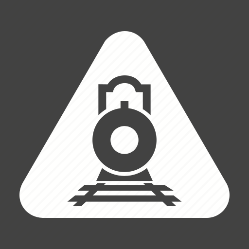 crossing, railroad, railway, road, sign, stop, train icon
