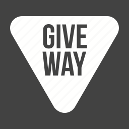 give, highway, road, sign, signs, traffic, way icon