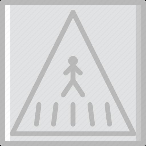 crossing, pedestrian, sign, traffic, transport icon