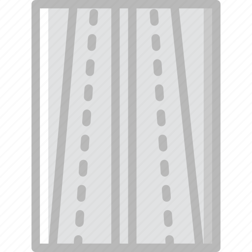road, sign, traffic, transport, two, way icon