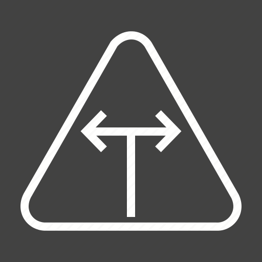 Intersection, road, sign, t, traffic, transportation, warning icon - Download on Iconfinder