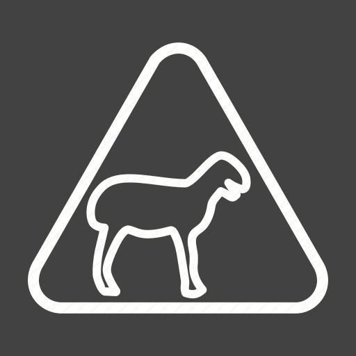 africa, animal, crossing, road, traffic, warning, wild icon