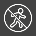 forbidden, no, pedestrian, prohibition, road, safety, sign icon