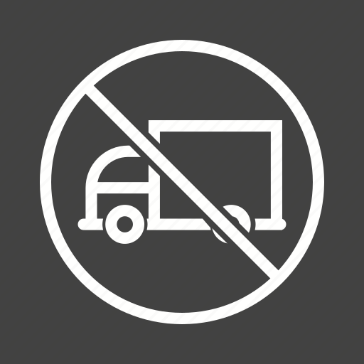 image, label, no, red, road, sign, truck icon