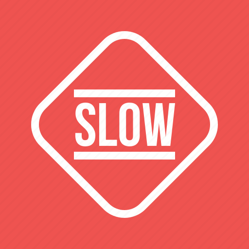 down, road, sign, slow, traffic, travel, warning icon
