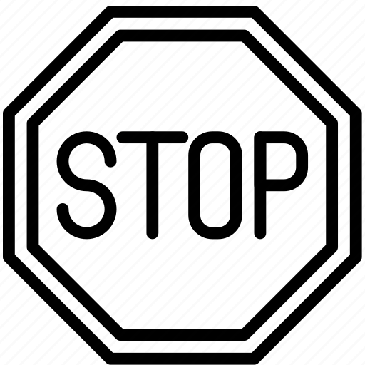 Sign, stop, traffic, transport icon - Download on Iconfinder