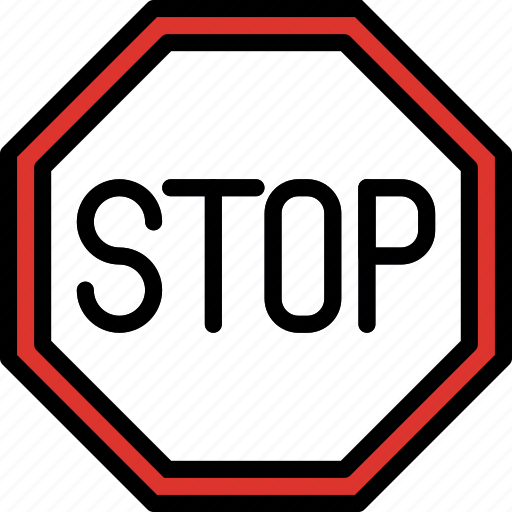 sign, stop, traffic, transport icon