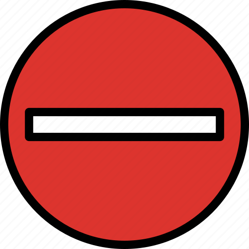 entry, no, sign, traffic, transport icon