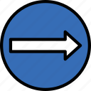 right, sign, traffic, transport, turn icon