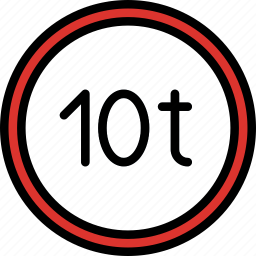 limit, sign, traffic, transport, weight icon
