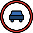 cars, forbidden, sign, traffic, transport icon