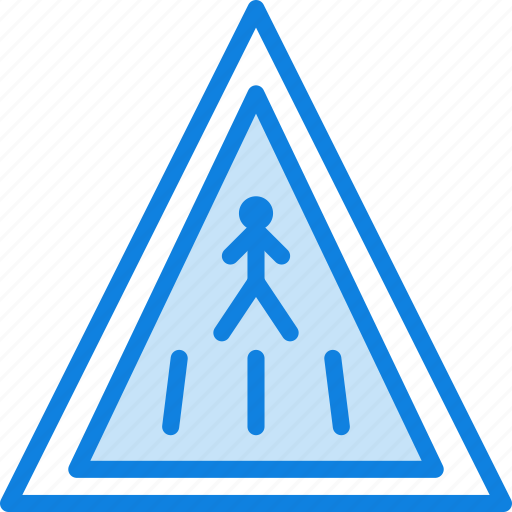 ahead, crossing, pedestrian, sign, traffic, transport icon