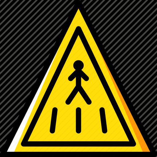 ahead, crossing, pedestrian, sign, traffic, transport icon
