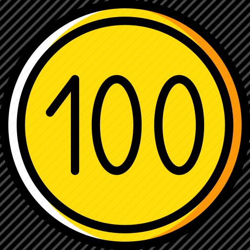 limit, sign, traffic, transport icon
