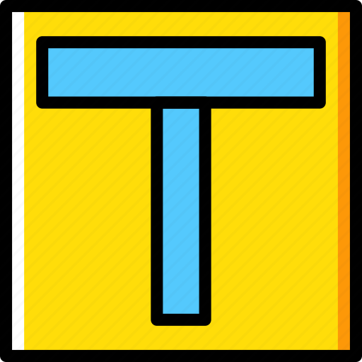 ahead, major, road, sign, traffic, transport icon