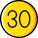 limit, sign, speed, traffic, transport icon