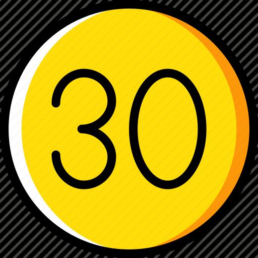 limit, sign, speed, traffic, transport icon