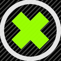 cancel, reject, remove icon