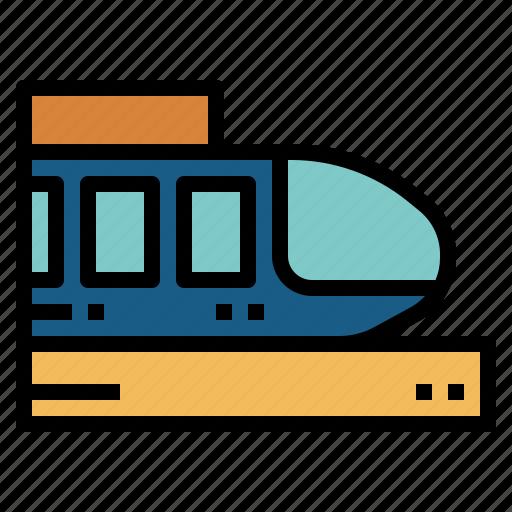 metro, subway, train, underground icon