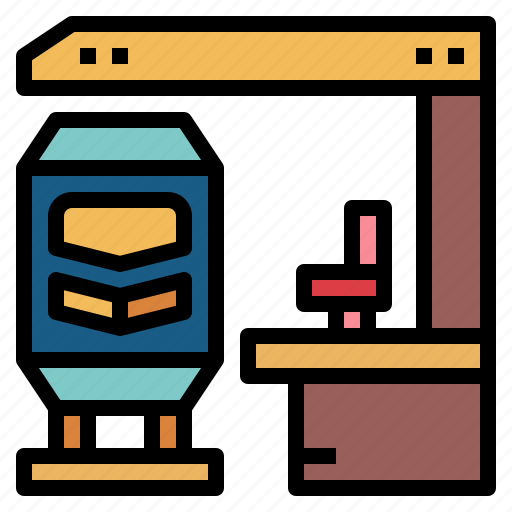 platform, railway, train, transport icon