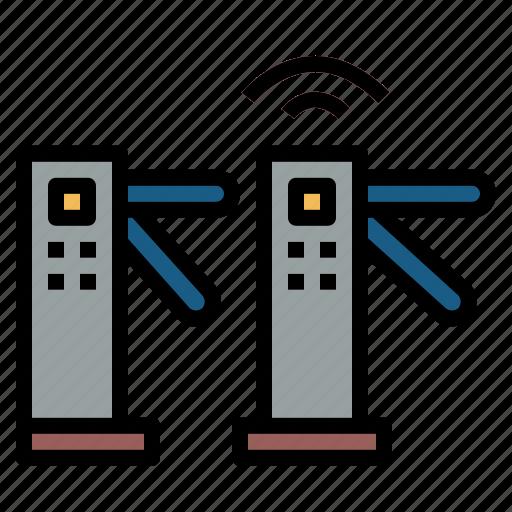access, control, turnstiles, underground icon