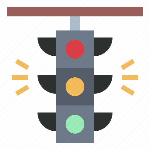 lights, signaling, stop, traffic, transportation icon