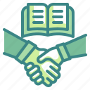 trust, book, honest, loyalty, gestures, handshake, cooperate