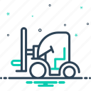 cargo, construction, forklift, machinery, shipping, transportation, truck icon