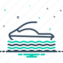 circuit, hydrocycle, rafting, riding, water, water scooter, waverunner icon