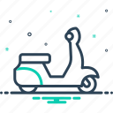 motorbikes, old, scooter, scooti, speed, transport, vehicle icon